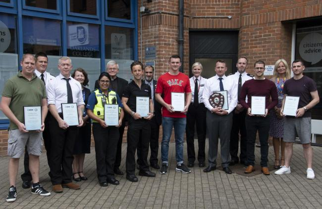 Officers and staff were recognised for their service