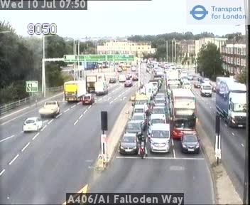 Traffic on the A406 near Golders Green. photo: TfL