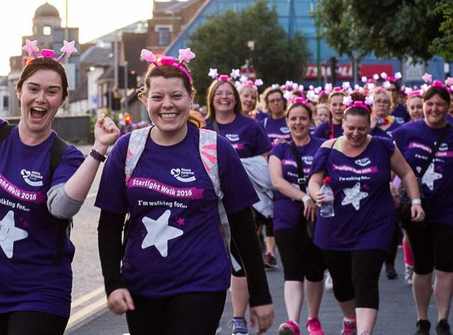 Starlight Walk supporters who took part in the 2016 event
