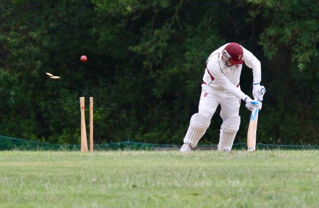 A Harpenden second XI batsman is bowled out. Picture: Len Kerswill