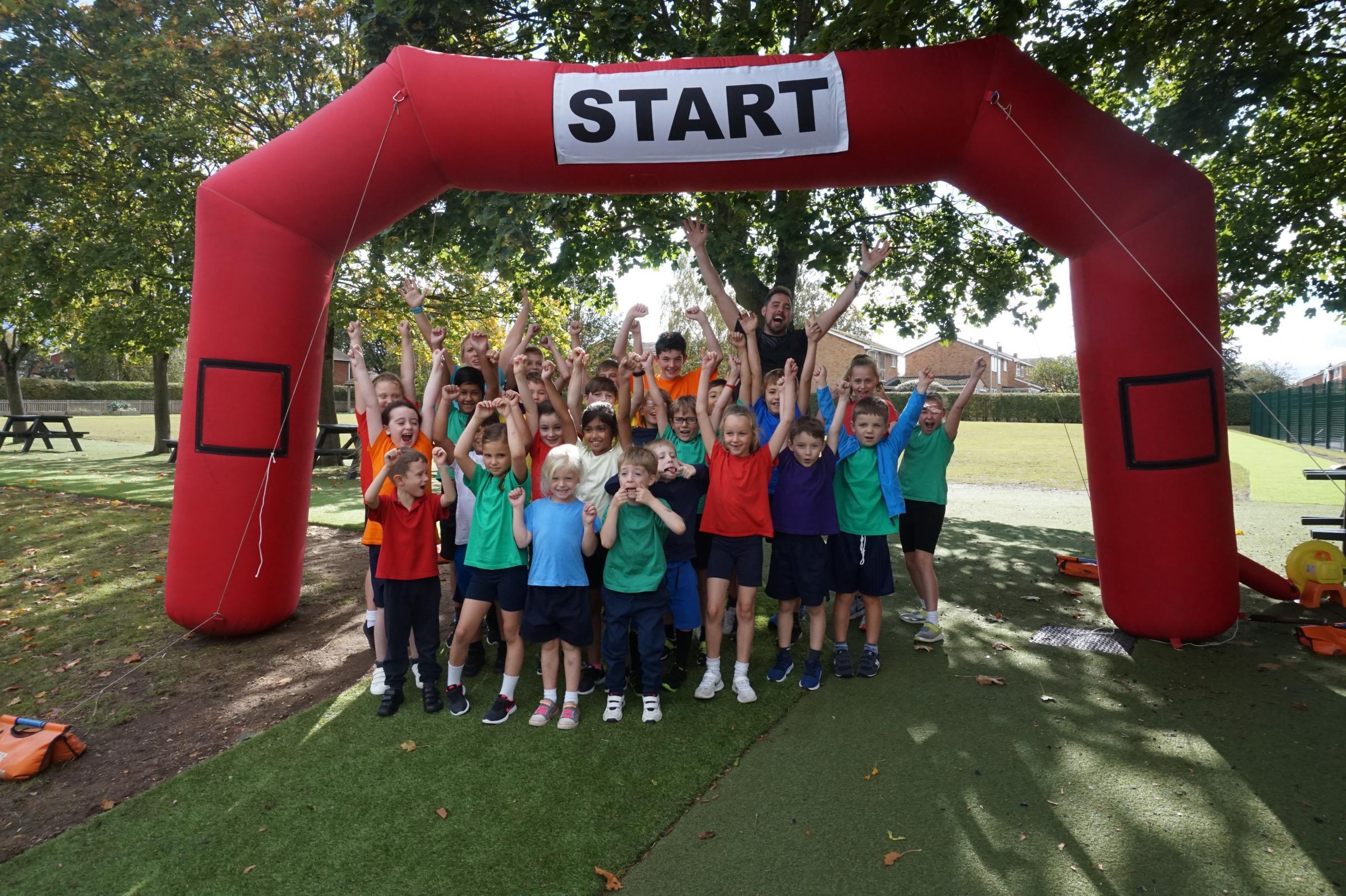 Prae Wood School in St Albans installs 200 metre running track