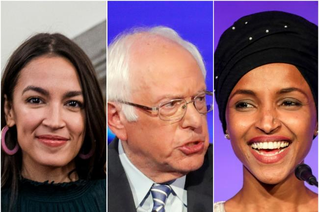 Alexandria Ocasio Cortez and Ilhan Omar are backing Bernie Sanders (Martin Sylvest/John Minchillo and Jenn Ackerman/AP)