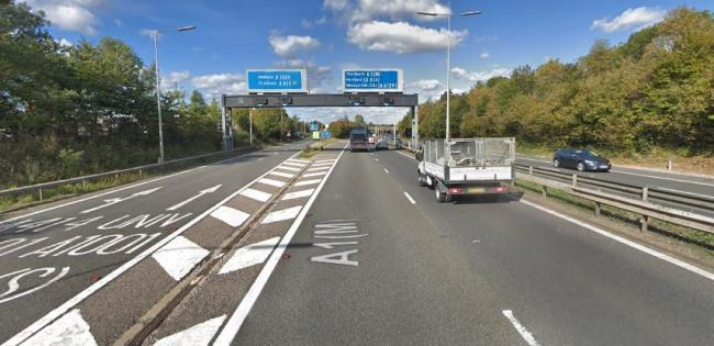 A Google Street View of a stretch of the A1(M) in Hertfordshire