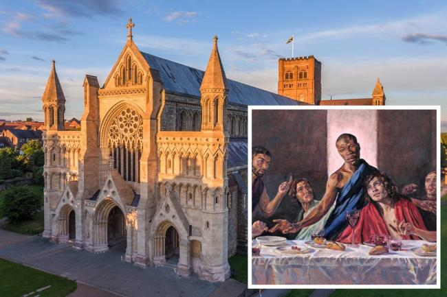 St Albans Cathedral will be displaying a painting of Jesus as a black man. Photo: St Albans Cathedral