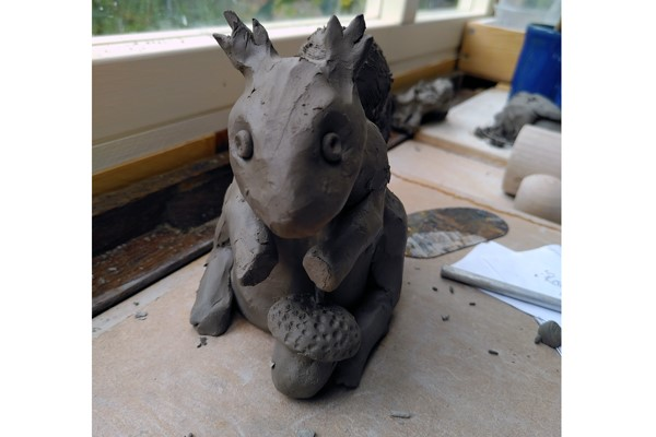 Children's Holiday Online Workshop: Pottery Squirrels (Ages 7+)