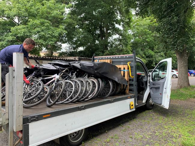 Bikes being delivered for NHS workers. Credit: St Albans City & District Council
