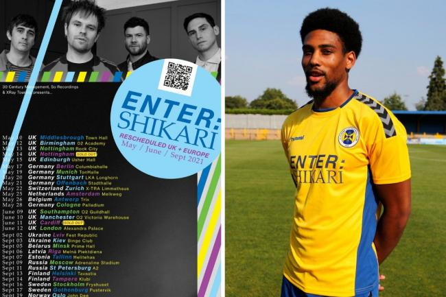 Enter Shikari are sponsoring St Albans City FC. Photos: Enter Shikari