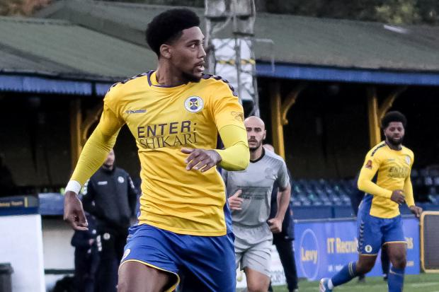 Shaun Jeffers, St Albans City's leading goal scorer for the truncated 2020/21 season. Photo: Jim Standen