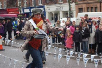 The pancake race sparked controversy.