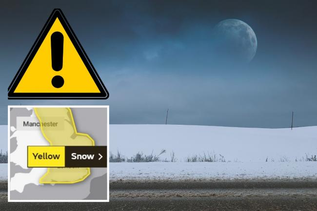 The Met Office has issued a yellow weather warning for snow. Photos: Unsplash/Met Office