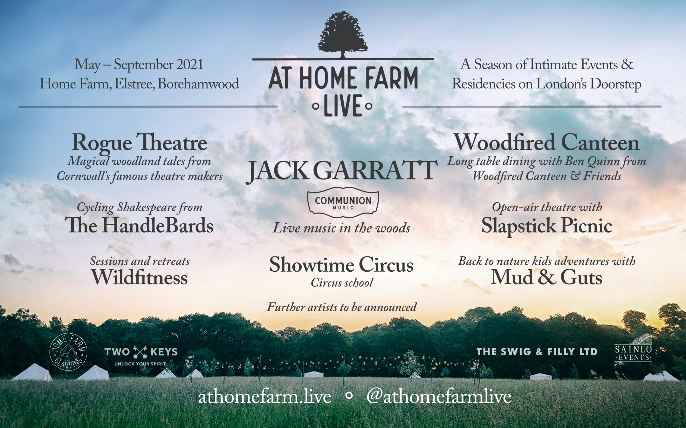 At Home Farm hosts: Communion Presents opening with Jack Garratt's return to the stage