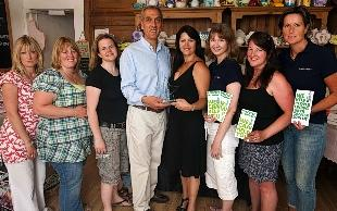 The Pots of Art team with their Retailer of the Year STAR award