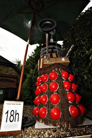 The Dalek took home the first prize at this year's Flamstead Scarecrow Festival.