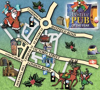 Your nominated city centre pub must be based within the boundaries of our map.