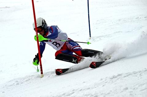 Max Baggio is competing in the national alpine ski championships