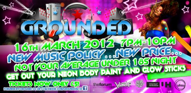 Grounded - Under 18s Night UV Party!