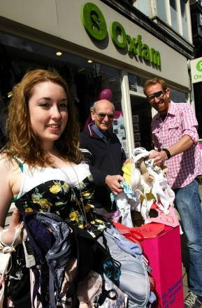 Charity shop launches big bra hunt