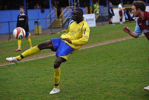 Sakho Bakare was the hero and villain for the Saints against Chesham United: Robert Walkley: