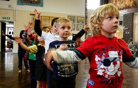 Children learn new moves at dance workshop