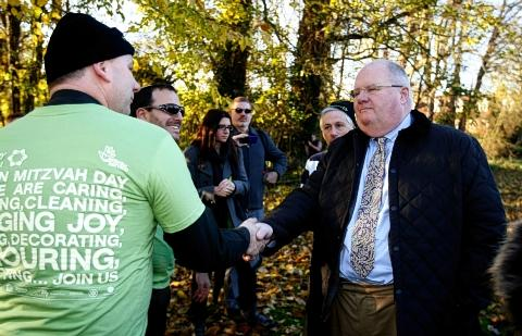 Eric Pickles, right, was at the event.