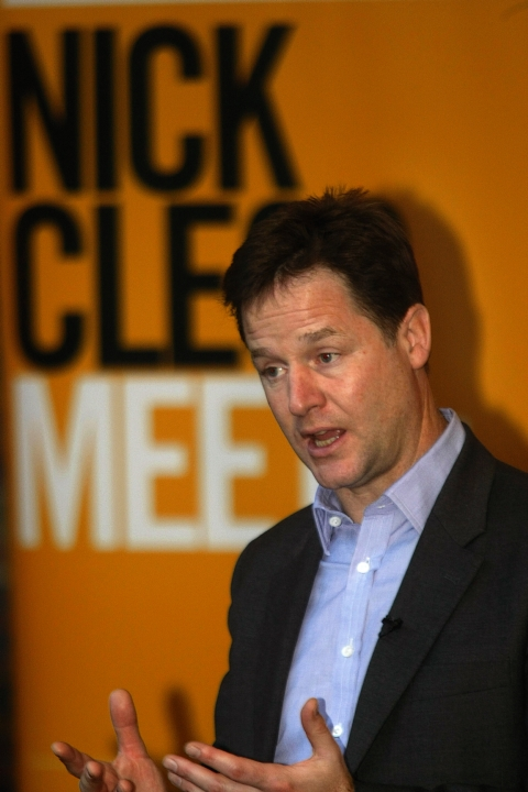 Residents quiz Nick Clegg at question and answer session