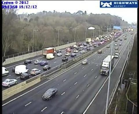 Hour-long delays on M25
