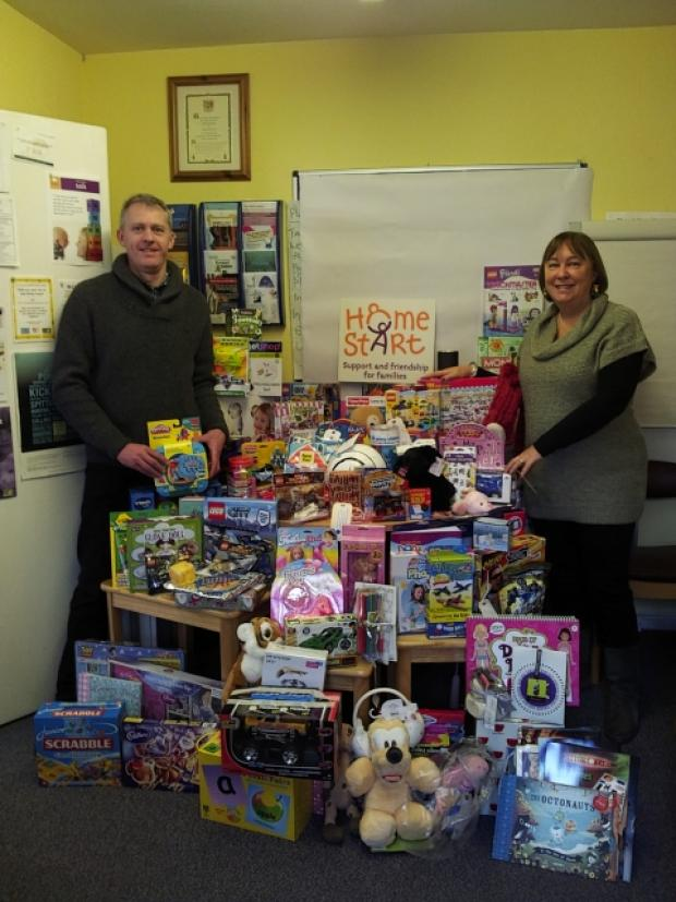 Commuters donate toys to disadvantaged children