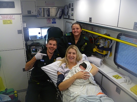 Redbourn mother gives birth to baby boy on the M1