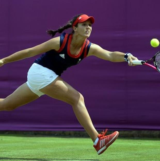 St Albans & Harpenden Review: Laura Robson, pictured, was defeated by Monica Niculescu at the Shenzhen Open