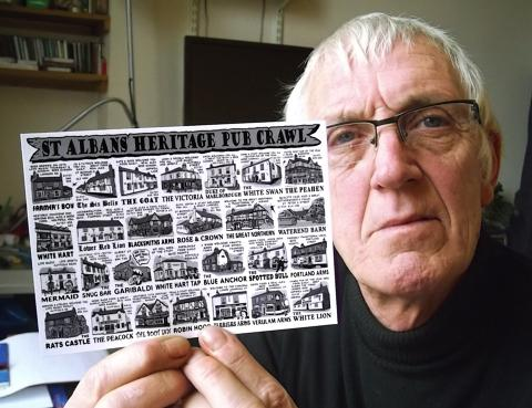 Artist creates pub postcard for St Albans