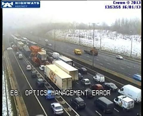 Air ambulance forced to turn back on M1 crash