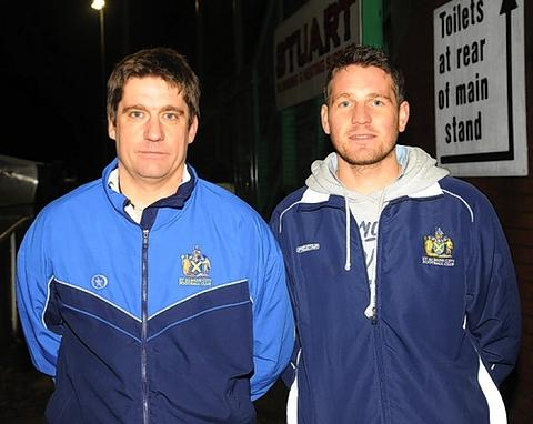 Joint St Albans City managers Graham Golds and James Gray: Robert Walkley