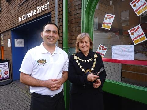 Mayor opens new fish and chip shop