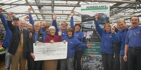 Garden centre donates almost £2,000 to charity