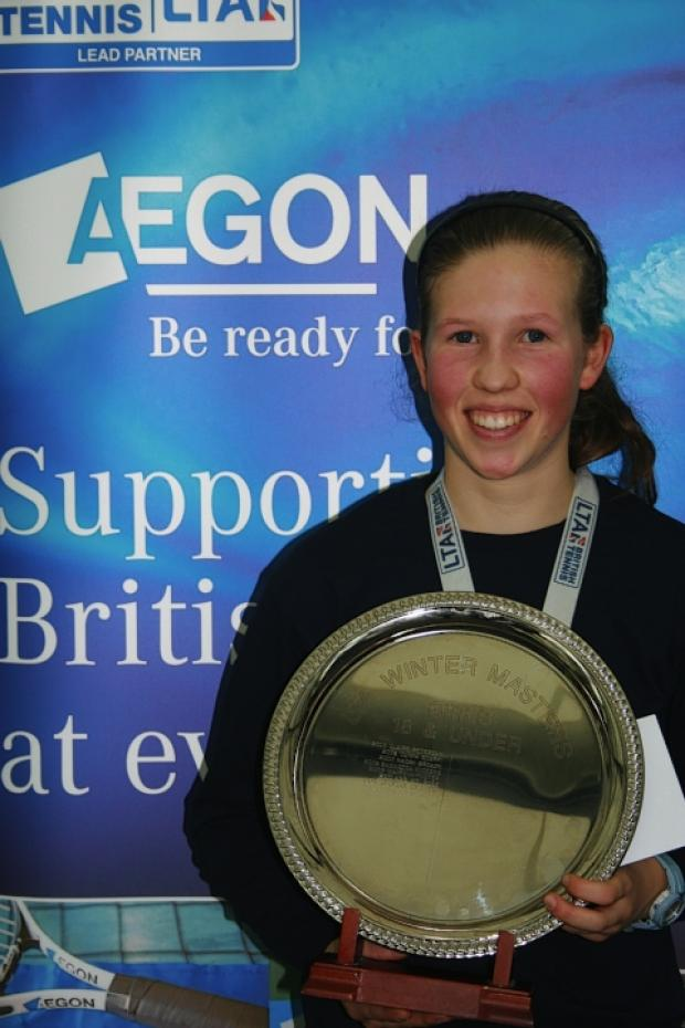 Emily Arbuthnott has won the 18 and under Aegon Winter National Tour Finals