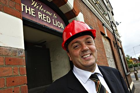 St Albans & Harpenden Review: Former Hornets owner Laurence Bassini outside the Yellow and Red Lion