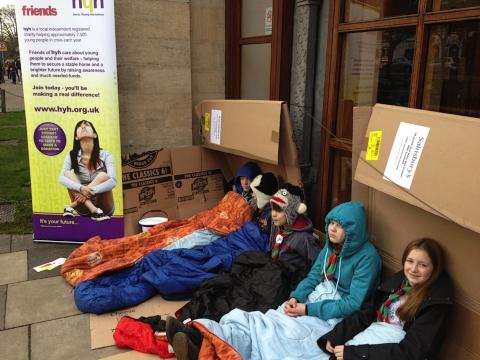 Charity sleepout raises almost £2,000 for homeless