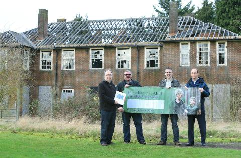 Clive Glover (far left) hopes the school will be built within the grounds of the former Harperbury Hospital.