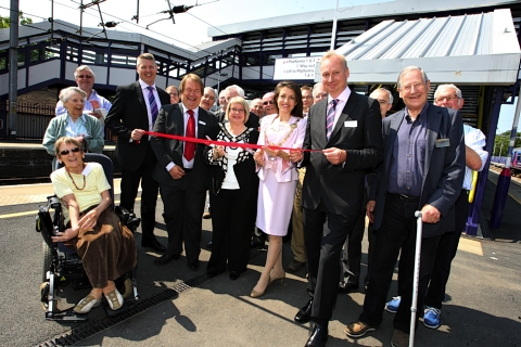 Train station's new footbridge officially open