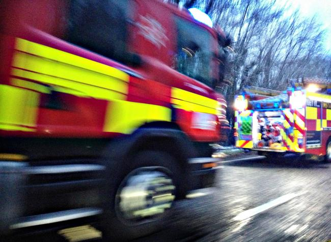 Firefighters tackle Harpenden car fire