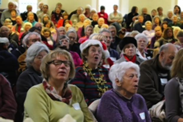 Singers act on dementia at Christmas carol concert