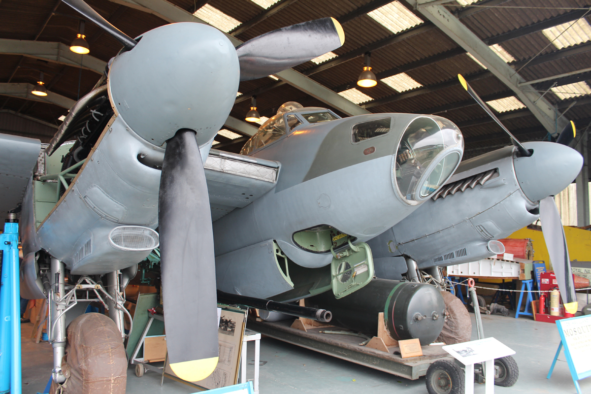 A Mosquito, one of the stars at the de Havilland Aircraft Museum. Picture: Peter Jeffery