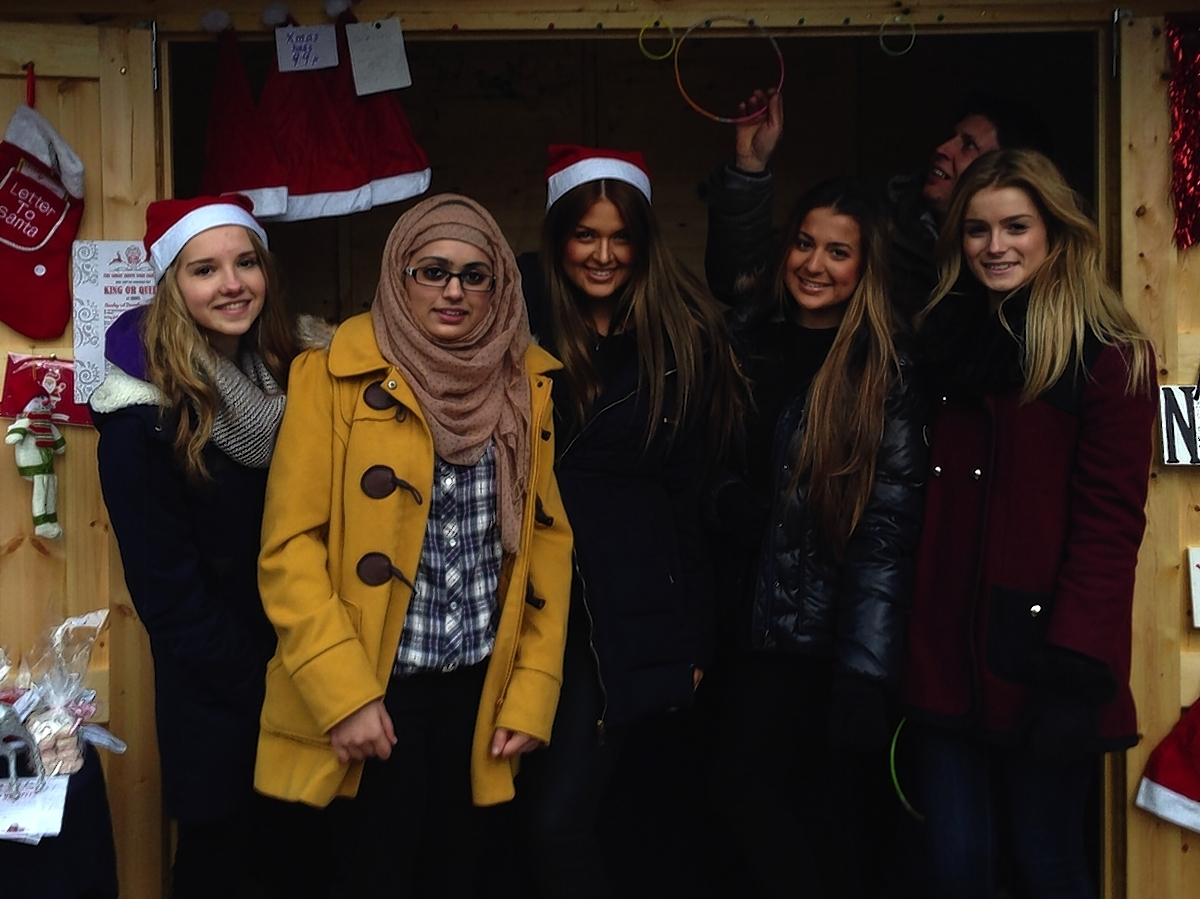 Students Charlotte Thompson, Lucy Hayes, Megan Wancio, Olivia Coverley, Tara Graham and Sumaiyah Jamil have raised just over £1,000 since October last year through a charity bake-off and stalls