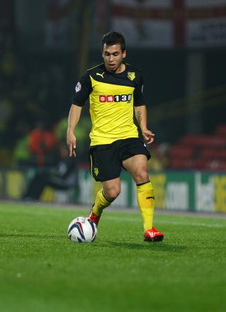 Cristian Battocchio scored twice for Watford this afternoon. Picture: Holly Cant