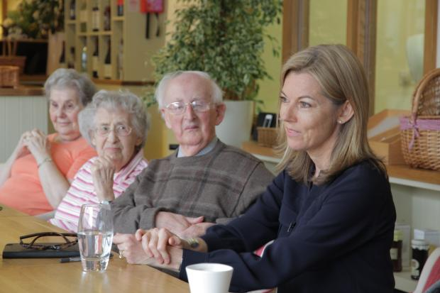 ITV News anchor visits St Albans care home