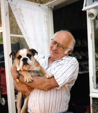 Eddie Gregg and his niece's dog Harry