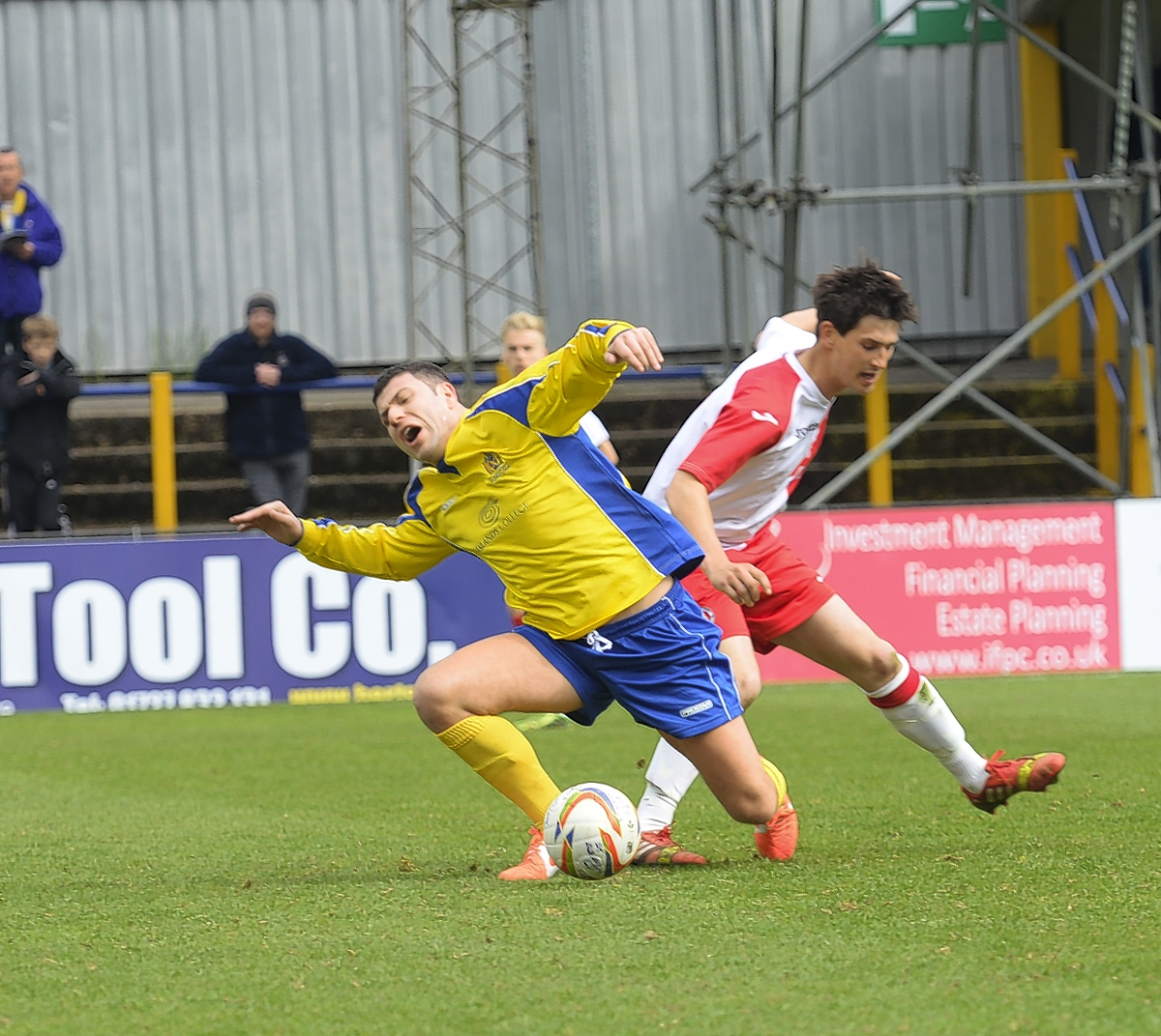 The Saints suffered a setback against Poole Town: Robert Walkley