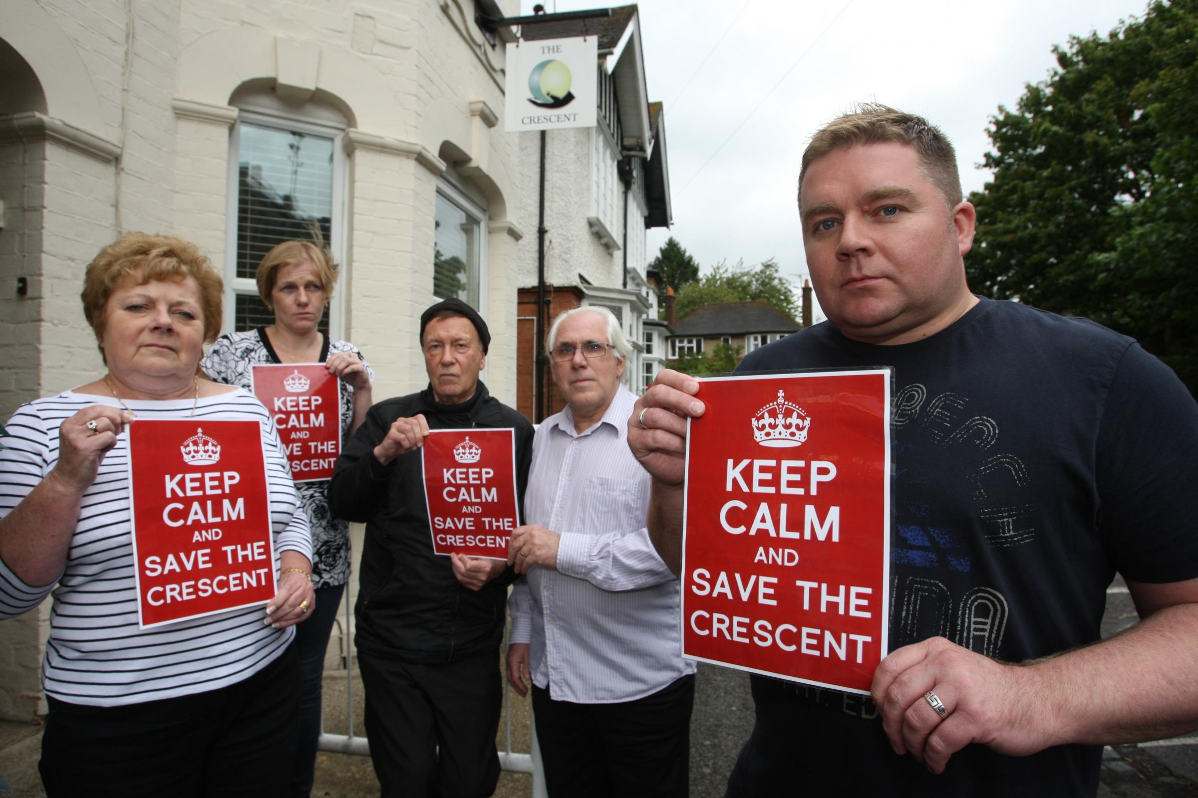Ian Murtagh and protesters meet to save the Crescent