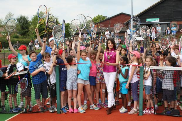 Mayor opens newly resurfaced tennis courts