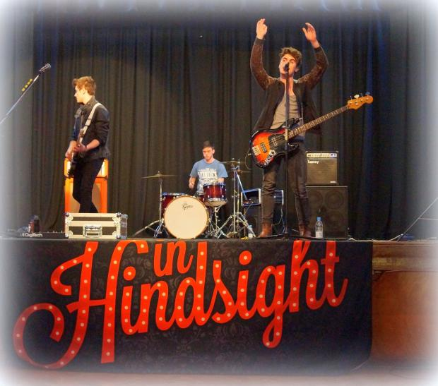 Boy band 'In Hindsight' play to St Albans school children